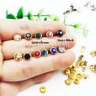 Short-pole Crystal Clear Synthetic Rhinestone Rivets Studs Leather Craft Decor