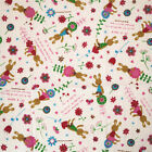 Vintage Printing Natural Cotton Linen Fabric Clothing Sewing Diy Craft 50x50cm