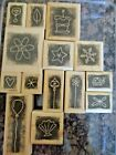 Stampin Up Rubber Stamp Sets Wood Mount New Used Retired You Choose Free Sh E