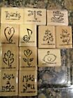Stampin Up Rubber Stamp Sets New Used Retired Wood Mount You Choose Free Ship G