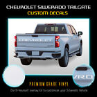 Letter Decal Inserts Fit 2019 Chevrolet Silverado Tailgate - Solid Flat Matte
