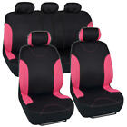 Poly Car Seat Covers Split Bench Protection Front Rear Full Set Cover For Auto