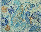 Blue Turquoise Paisley Fabric Clarence House Material Provence Chutney Bty