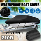 14-24ft Trailerable Pontoon Boat Cover Heavy Duty Waterproof Runabout Protector