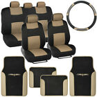 Car Seat Covers Full Bench Setpu Leather Carpet Floor Matsteering Wheel Cover