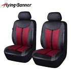 Luxury Pu Leather Car Seat Covers Front Pair Fit Universal Auto Seat Protector