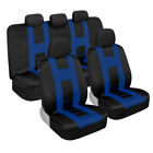 Front Rear Full Set Car Seat Covers Beige Blue Red Charcoal Gray Mint Purple