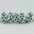 Czech Crystal Big Hole Spacer Charm Beads For European Bracelet Making Wholesale