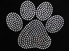 Choose Color- Big Paw Rhinestone Iron On Transfer 5 By 4 Inches