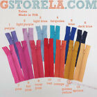 Assorted Colors Of Hard-to-find Vintage 5 Inch Talon Zippers 151025  W2