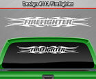 Design 113 Firefighter Tribal Flame Windshield Decal Window Sticker Graphic Suv