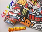 Hellaflush Sticker Bomb Vinyl Film For Car Wrapping With Air Bubble Free