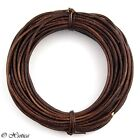 Xsotica Round Leather Cord 10 Feet Over 65 Colors Available