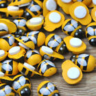 1050100pcs Yellow Bee Stickers Easter Fridge Scrapbooking Buttons W289