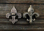 Fleur De Lis Buttons Set Of Two Buttons Made With Fine Pewter In The Usa