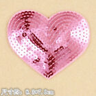 Star Heart Sequins Embroidery Sew On Iron On Patch Badge Fabric Applique Craft