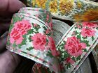 Vintage Metallic Jacquard Embroidered Cotton 1 12 Ribbon Trim 1yd France