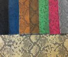 Vinyl Faux Fake Leather Small Snake Python Embossed Fabric Sold By Yd Rolled