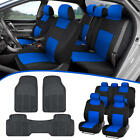 Car Suv Seat Covers For Auto All Weather Rubber Floor Mats - Full Interior Set