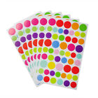 6 Sheets Lovely Heart Star Shaped Stickers Art Diy Craft Colorful Self Adhesive