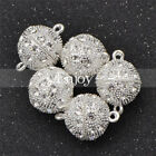 5 Pcs Ball Magnetic Clasps Crystal Rhinestone Jewelry Making 1012141618mm