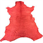 Sale Red Leather Hides Genuine New Zealand Veg Tanned Upholstery Craft Skins 966