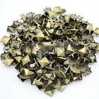 100 Pack 4-spike 12 12mm Pyramid Metal Studs 1080 Choose Finish 6mm Spikes