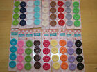 Riley Blake Sew Together 1 Round Matte Buttons Sewingcrafts Lot 4 Carded