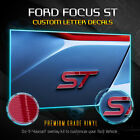 2013-2019 Ford Focus St Overlay Decal Emblems Front Back - Glossy Carbon Fiber