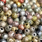 3mm 4mm Frosted Stardust Gold Silver Round Ball Mixed Beads 100pcs Low Prices