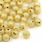 3mm 4mm Frosted Stardust Spacer Gold Silver Round Ball Mixed Beads 100pcs 200pcs