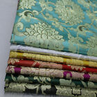 Chinese Costume Cos Vintage Damask Satin Faux Gold Silk Brocade Jacquard Fabric