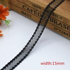 10 Yards 1.4-7.5cm Beautiful Black Lace Ribbon Embroidered Dress Accessories