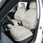 Car Front Seat Cover Universal- Faux Leather Fur Padding Super Warm For Winter