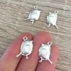 102030 Pcs Silver Plated Bird Charms Robin Pendant Nature Jewelry Cute 19x15mm