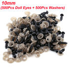 612mm Black Safety Eyes Plastic With Washers For Doll Puppet Plush