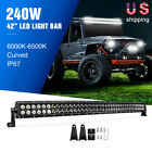 Nilight 54 50 42 32 Curved Led Light Bar Combo Fog Lights For Suv Boat Jeep Lamp