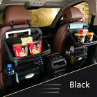 Car Seat Back Multi-pocket Organizer Holder Leather Storage Bag With Tray Holder