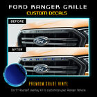 Premium Front Grille Letters Insert Decal Fit 2019 Ford Ranger - Chrome Mirror