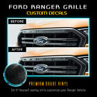 Premium Front Grille Letters Insert Decal Fit 2019 Ford Ranger - Glossy Matte
