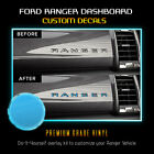 Dashboard Glove Box Insert Letter Decal Fit 2019 Up Ford Ranger - Glossy Matte