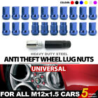 20 Pcs Universal For Rims M12x1.5 Iron Anti Theft Spline Tuner Racing Lug Nuts