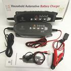 New Car Motorcycle Battery Charger 3.8a Automatic Battery Maintainer 8 Modes Us