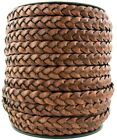 Xsotica Flat Braided Leather Cord 10mm 1 Yard