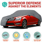 Multi-layer Waterproof Car Cover For Auto All Weather Protection Secure Lock L