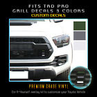 For 2016-2020 Toyota Tacoma Trd Pro Grill Decals Inlay 3 Colors X2 - Flat Matte