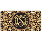 Leopard Print License Plate Animal Print Front Monogram Personalized Mothers Day