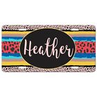 Animal Print Leopard Cheetah License Plate Monogram Personalized Mothers Day
