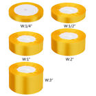 Satin Ribbon 50 100 Yd Yard Roll 14 12 1 2 3 In Inch Gift Wrapping Bulk