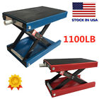 1100lb Motorcycle Center Scissor Lift Jack Hoist Stand Bikes Red High Quality Us